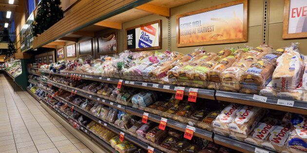 The bread aisle at a Loblaws location in Toronto, Dec. 20, 2017. The way Canadians buy food is changing rapidly, and that could mean some hard times for the country's traditional food retailers.