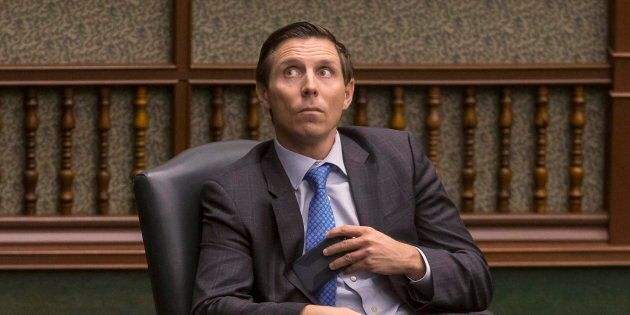 Former Ontario PC leader Patrick Brown in the Ontario legislature in Toronto on March 28,