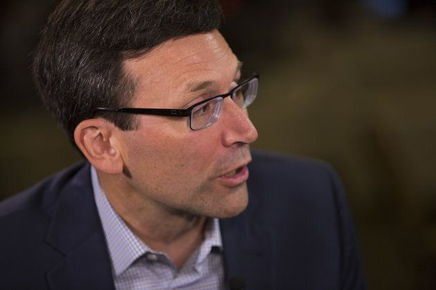 Bob Ferguson, attorney general of Washington, speaks during a Bloomberg interview at the GeekWire Summit in Seattle on Oct. 10, 2017.