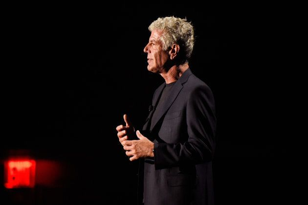 Anthony Bourdain speaks onstage during the Turner Upfront 2017