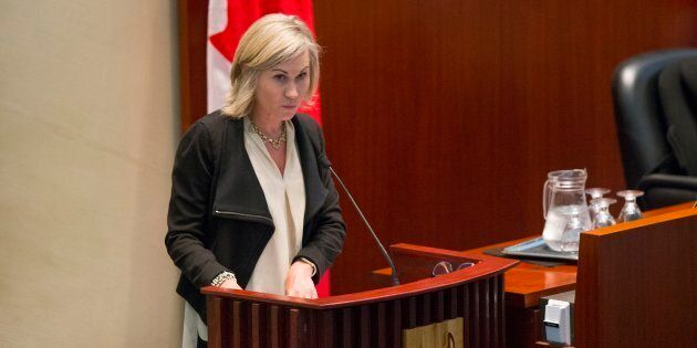 Jennifer Keesmaat delivers a transit presentation at city hall on June 13, 2016.