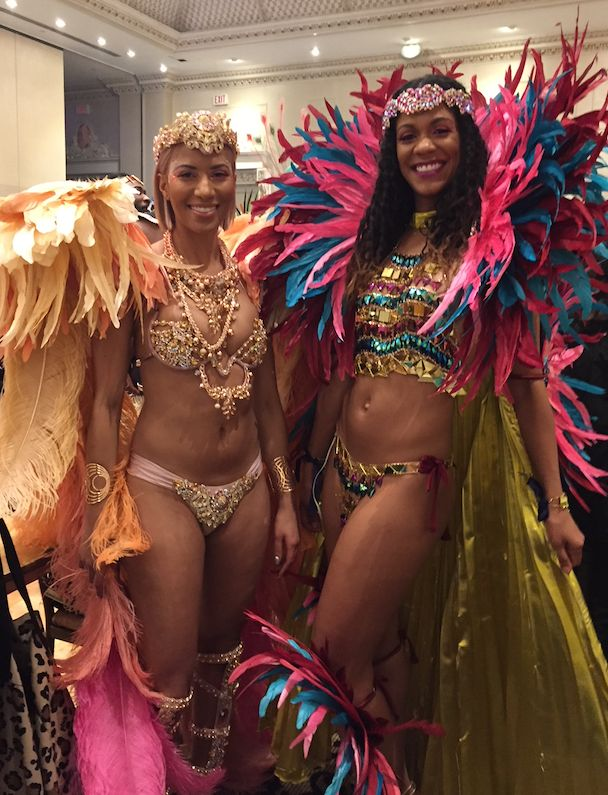 Mischka and Joella Crichton at the 2018 Carnival Nationz Band Launch