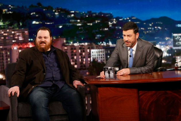 Canadian stand-up comedian K. Trevor Wilson appears as a guest on Jimmy Kimmel Live.
