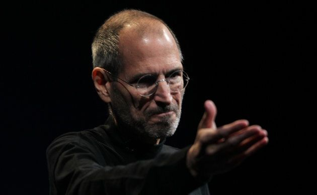 Apple CEO Steve Jobs gestures during his unveiling of the iPhone 4 in San Francisco, Calif., June 7,...