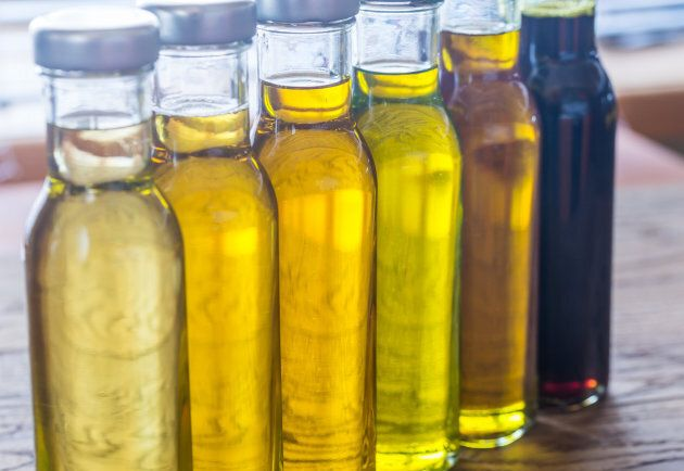 Different kinds of vegetable oil.
