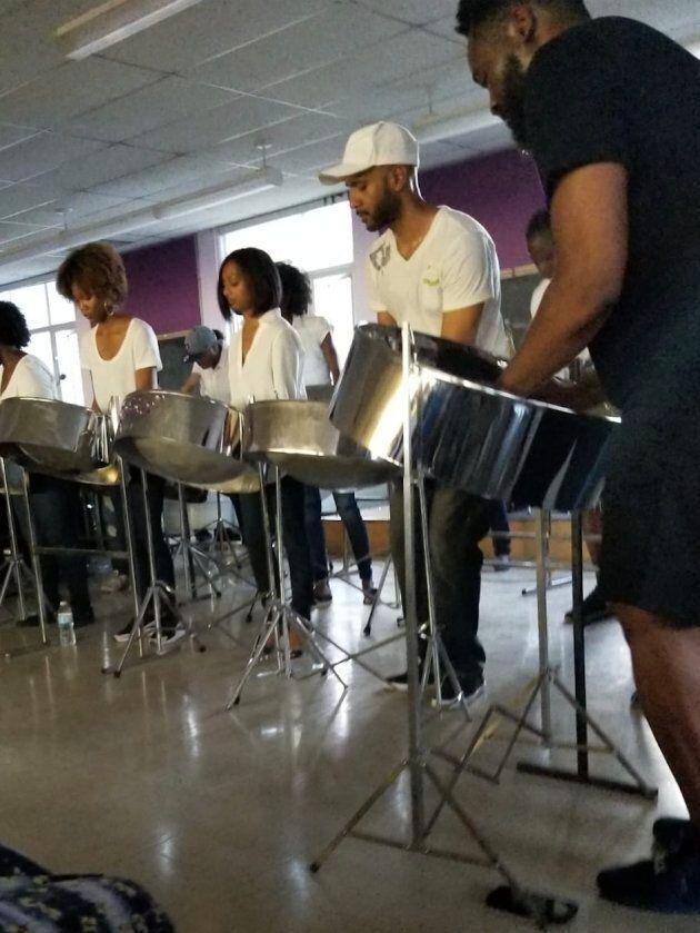Performing at