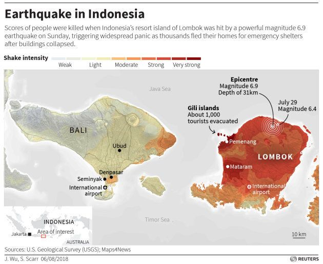 An earthquake in Indonesia has killed 98 people and that death toll is expected to rise as crews sift through collapsed buildings.