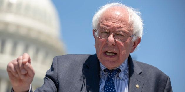 U.S. Sen. Bernie Sanders speaks during a news conference at the U.S. Capitol on July 10, 2018 in Washington,