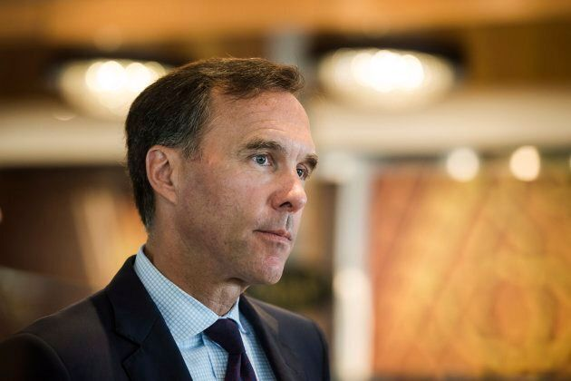 Finance Minister Bill Morneau speaks to business leaders at Paramount Fine Foods in Mississauga, Ont.,...