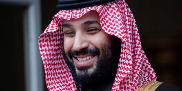 Saudi Arabia's Crown Prince Mohammed bin Salman at the Hotel Matignon in Paris, France, April 9, 2018....