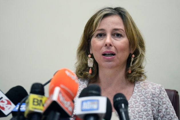 Italian Minister of Health Giulia Grillo during a press conference on compulsory vaccinations at the...