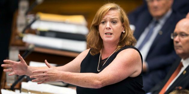 TORONTO, ON - AUGUST 1: Social Services Minister Lisa MacLeod during question period at Queen's Park....