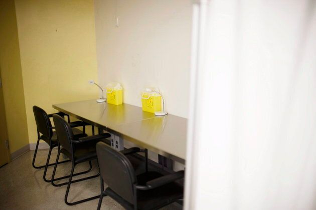 Safe injection stations at the interim injection site in Toronto Public Health's