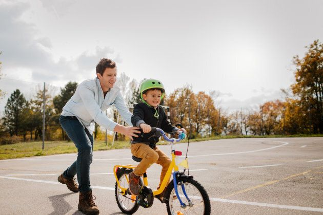 Reminding your child of previous fears and how well they overcame them, like riding a bike, can help...