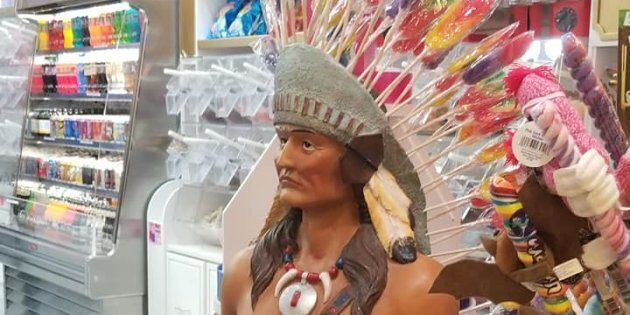 Montana Courts complained to West Edmonton Mall after seeing this statue at Bubble and Gum.