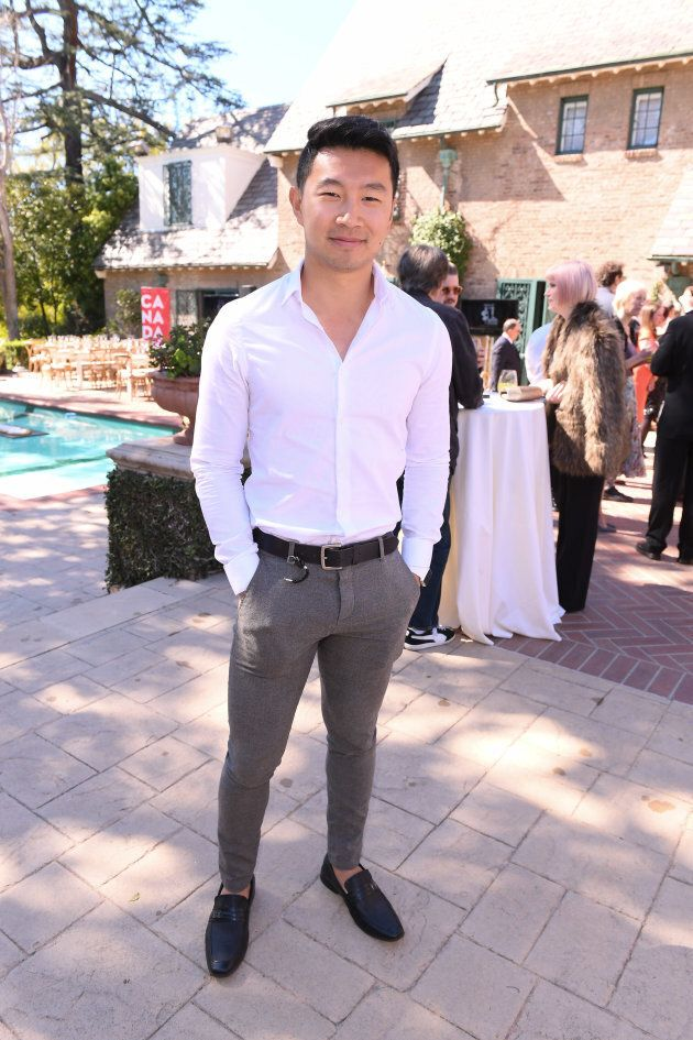 Simu Liu attends the Canadian Brunch Reception honouring Canadian nominees For the 89th Academy Awards...