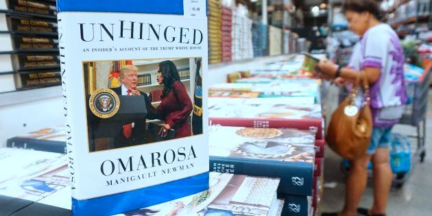 Omarosa Manigualt-Newman's newly released book 'Unhinged' is displayed and for sale in Alhambra, California...