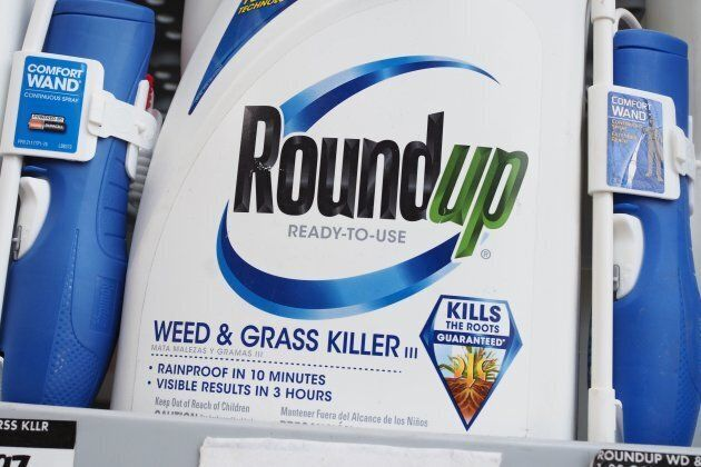 Bottles of Monsanto's Roundup are seen for sale June 19, 2018 at a retail store in Glendale,