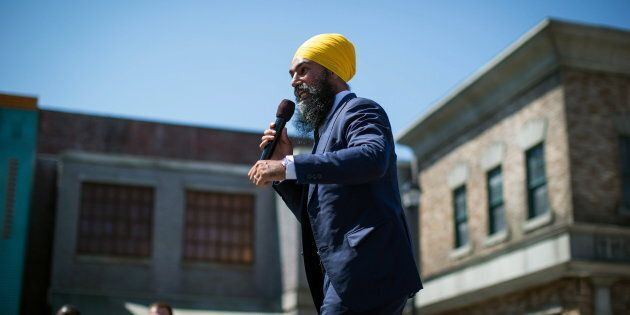 NDP Leader Jagmeet Singh announces he will run in a byelection in Burnaby South, during an event at an...