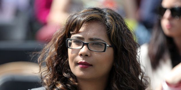 Iqra Khalid, Liberal Member of Parliament, attends a celebration in Mississauga,