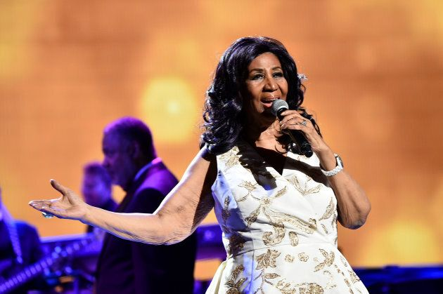 Aretha Franklin performs at the 2017 Tribeca Film Festival at Radio City Music Hall on April 19, 2017...