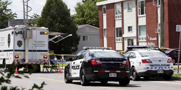 Fredericton Police and Royal Canadian Mounted Police (RCMP) investigate apartment complex which was the...