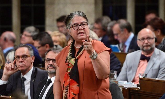 National Revenue Minister Diane Lebouthillier stands during question period in the House of Commons on...