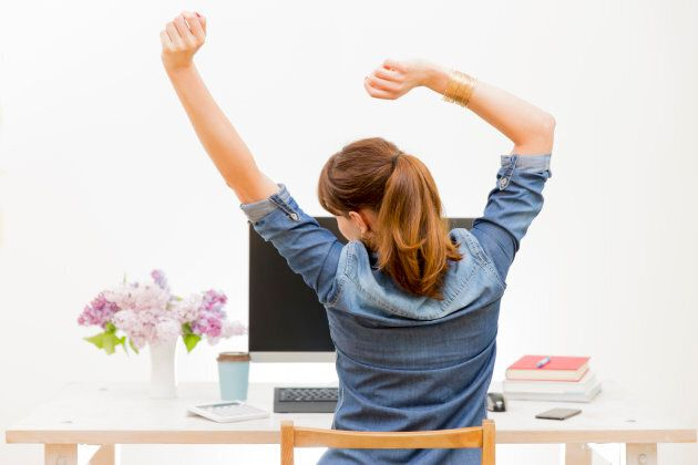 Even stretching at your desk can