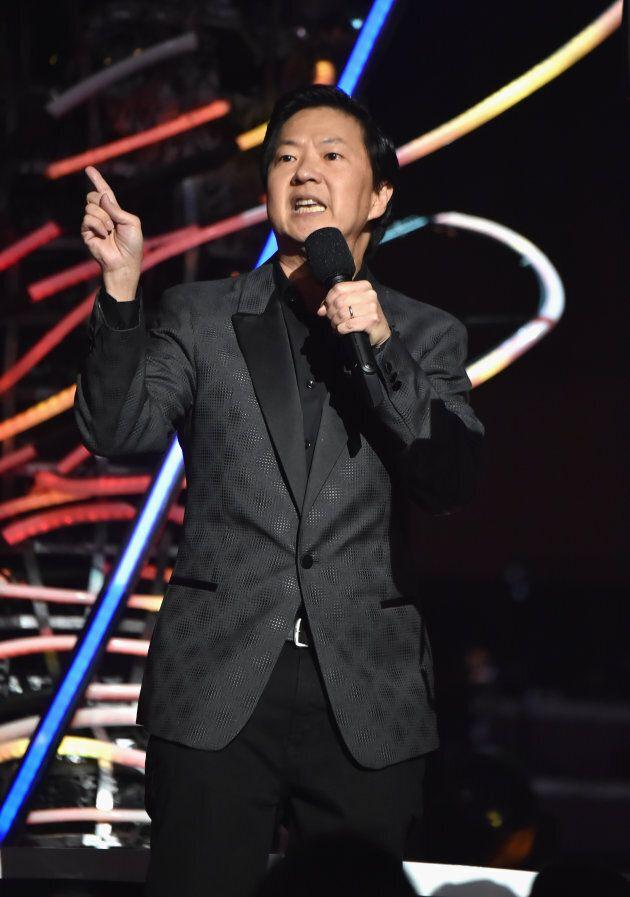 Ken Jeong onstage at the 2018 MTV Video Music Awards.
