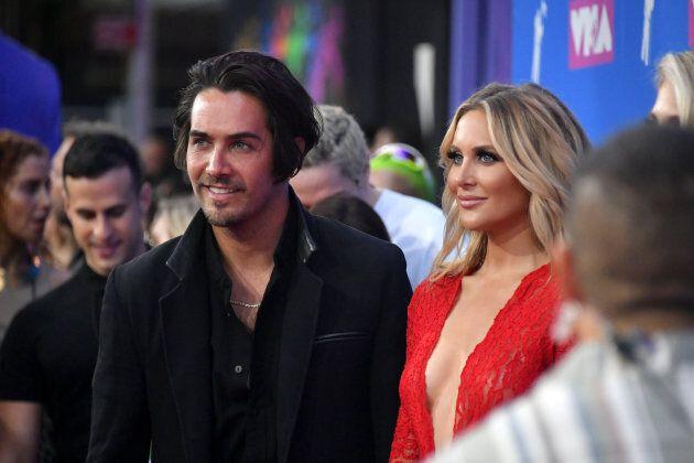 Justin Bobby Brescia and Stephanie Pratt at the 2018 MTV Video Music