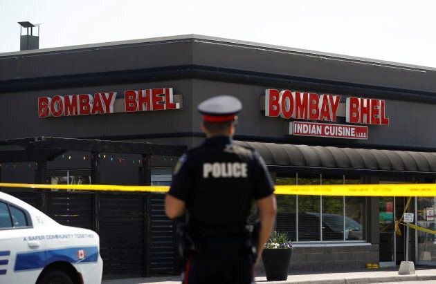 A bomb went off at Bombay Bhel restaurant in Mississauga on May 25, 2018. Fifteen people were