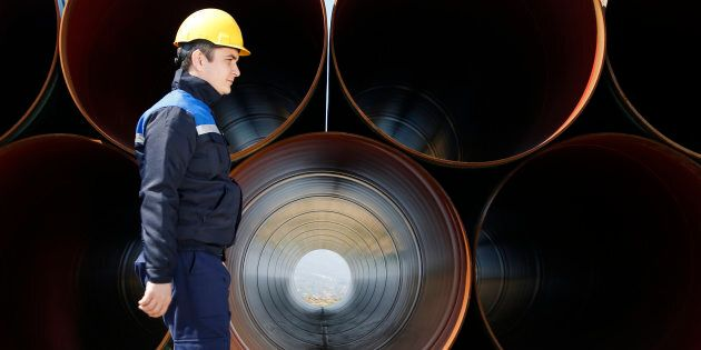 The United States says it will impose preliminary anti-dumping duties on large-diameter welded pipe from...