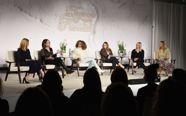 Laura Linney, Gillian Flynn, Elaine Welteroth, Drew Barrymore, Chelsea Handler and Gwyneth Paltrow speak...