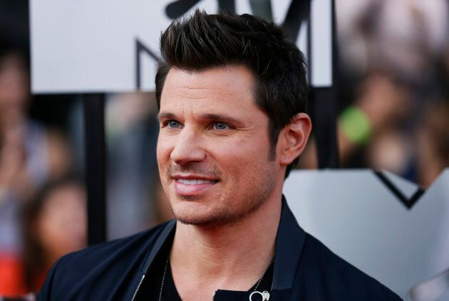 Nick Lachey at the 2014 MTV Movie Awards in Los Angeles.