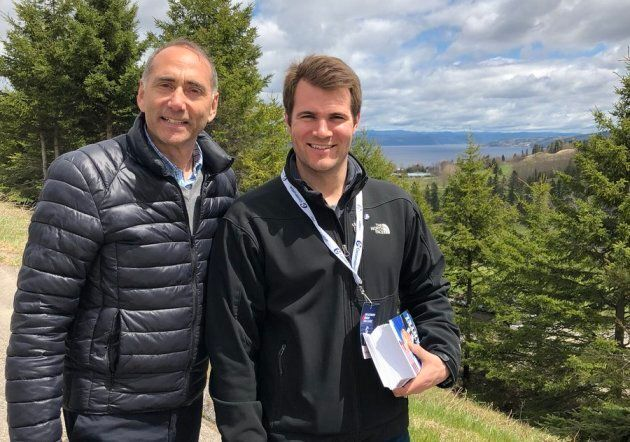 Chicoutimi-Le Fjord MP Richard Martel, left, and Antoine Tardif, right, are part of the Conservatives' Quebec team.