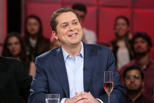 """Andrew Scheer appeared on """"Tout le monde en parle"""" in May."""