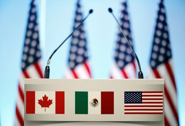 A joint news conference on the closing of the seventh round of NAFTA talks in Mexico City on March 5, 2018.