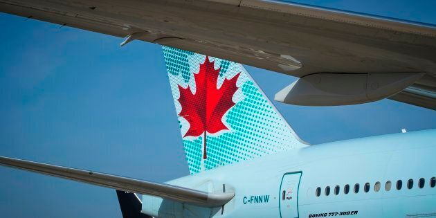 An Air Canada Boeing 777 on the tarmac at Roissy-Charles de Gaulle Airport, north of Paris, Aug. 7, 2018....