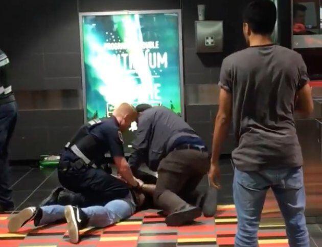 Facebook video captures a violent confrontation between Montreal subway inspectors and a fare evader.