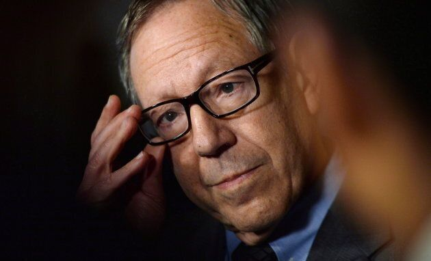 Former Liberal MP Irwin Cotler holds a press conference in the foyer of the House of Commons in Ottawa on March 26, 2015.