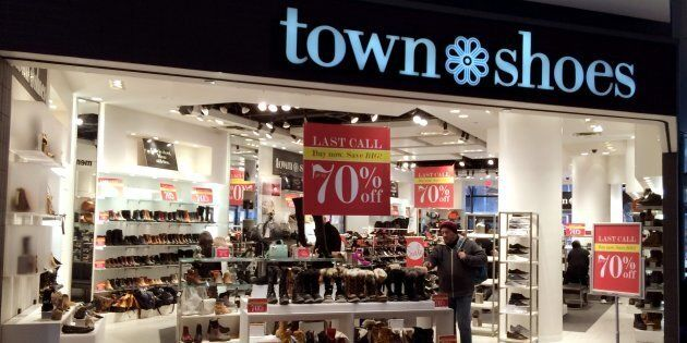 A Town Shoes store at the Eaton Centre in Toronto, Ont. is pictured on Feb. 4,