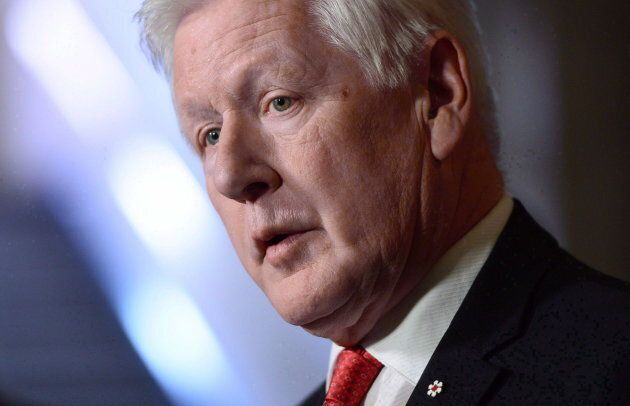 Bob Rae, the government's special envoy to Myanmar, holds a press conference in the foyer of the House of Commons on Parliament Hill in Ottawa on Oct. 23, 2017.
