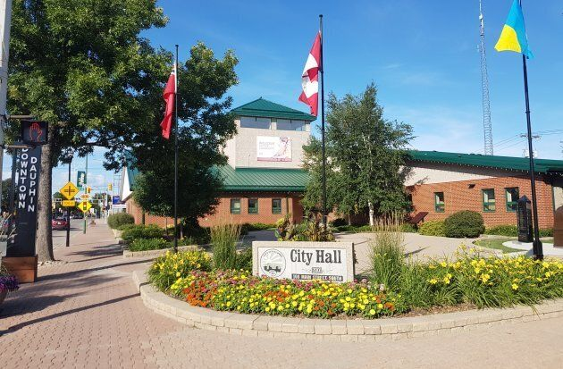 City Hall in Dauphin, Man., site of a now-renowned basic income experiment in the