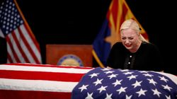Meghan McCain Takes Aim At Trump In Eulogy For John