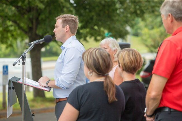 Brian Gallant in Fredericton on Aug. 28,