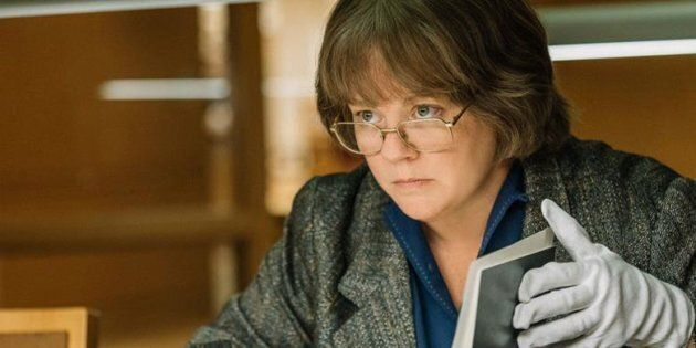 Melissa McCarthy in 'Can You Ever Forgive Me?' is one of the several movies playing at Toronto International Film Festival about a real-life literary hoax.