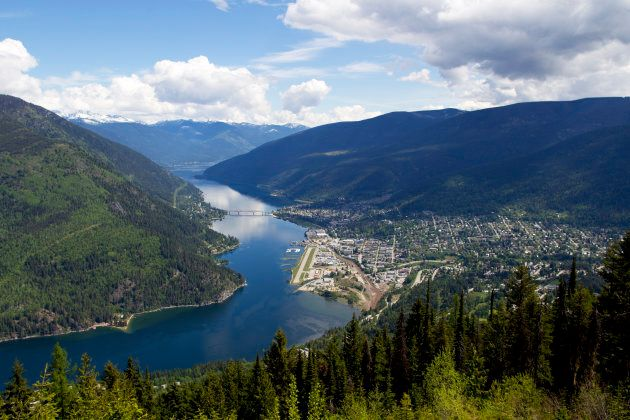 An aerial view of Nelson, B.C.