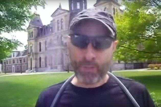In a newly surfaced video, alleged Fredericton shooter Matthew Vincent Raymond tells interviewer Charles...