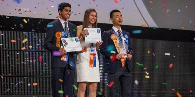 Raymond Wang, Nicole Ticea Win Top Intel Science Fair