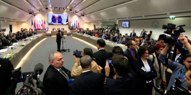 Members of the media cover the 164th OPEC (Organization of the Petroleum Exporting Countries) meeting...